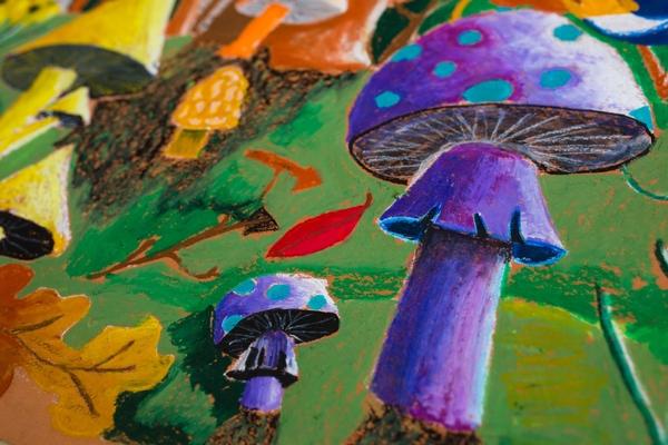 Purple Mushroom Pastel