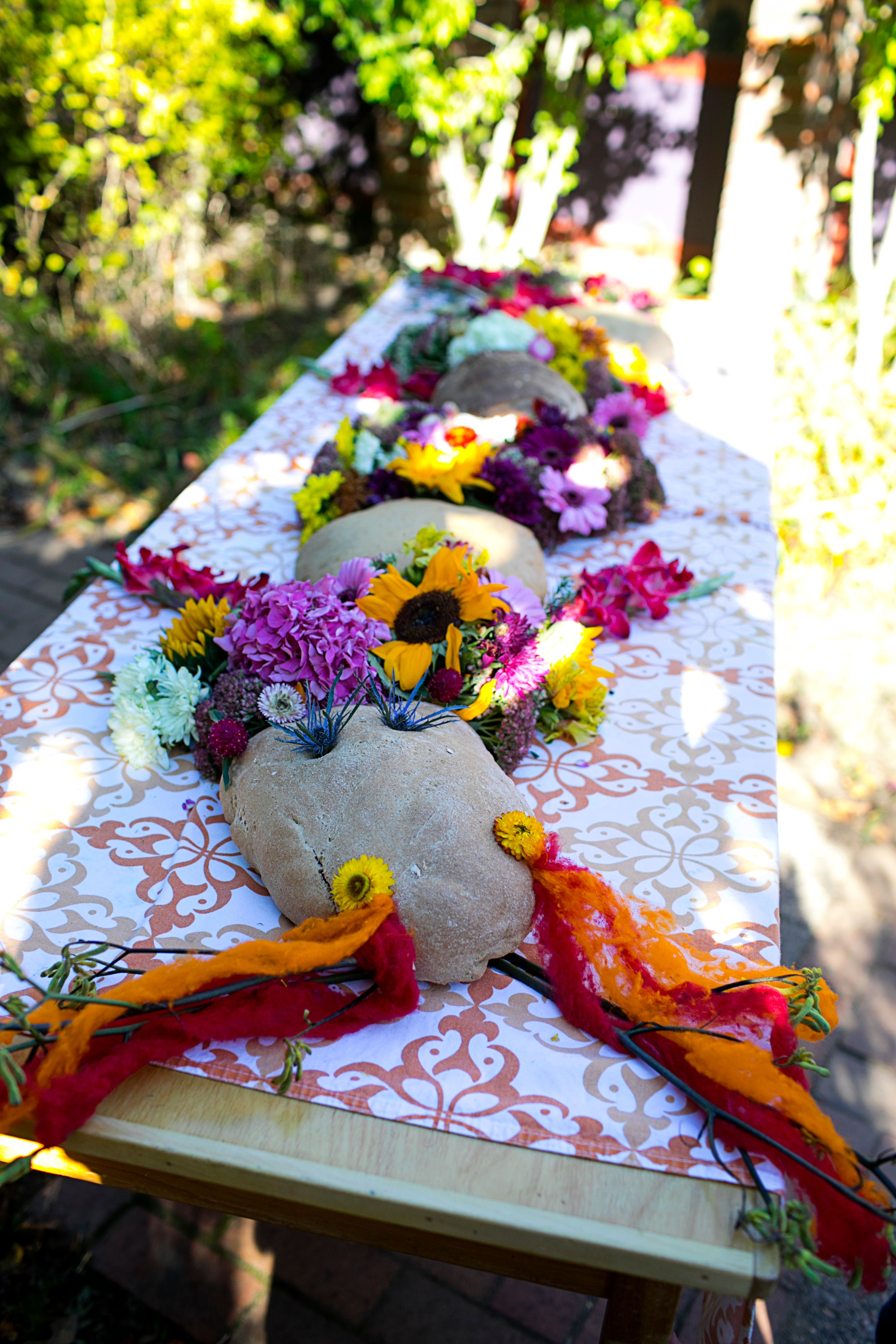 Dragon-Shaped Bread Adorned with Flowers