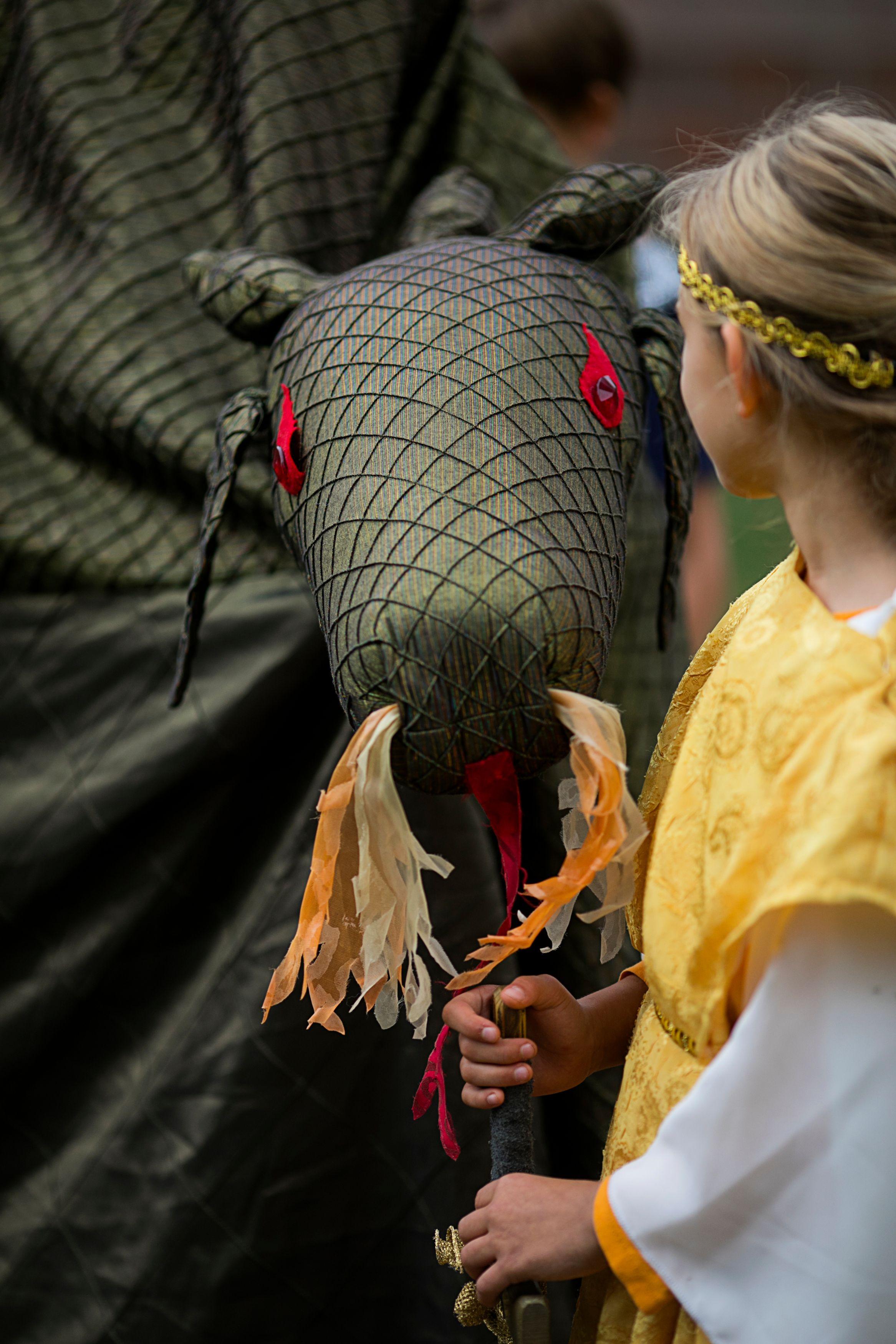 Girl with Michaelmas Dragon
