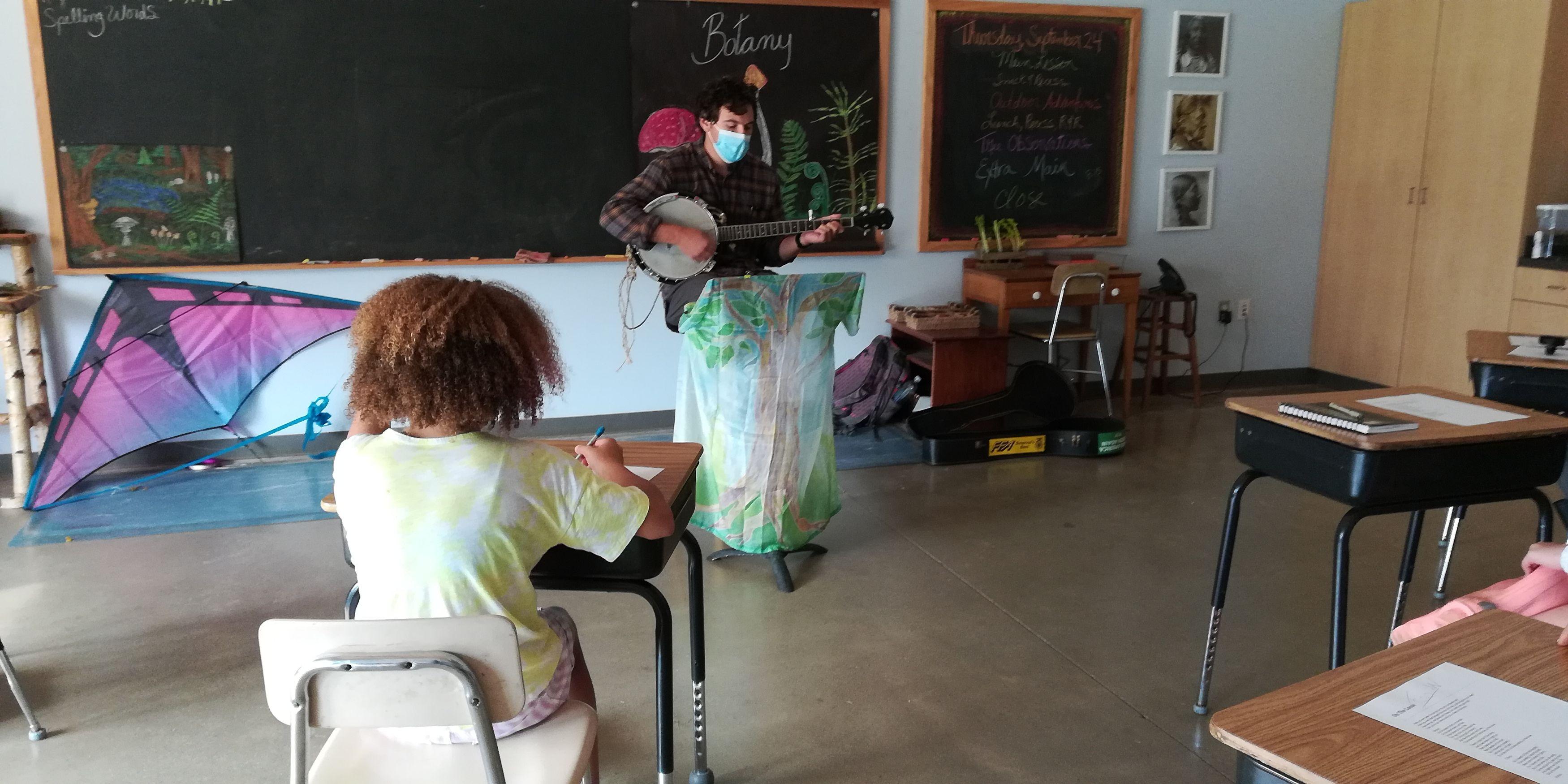 Teacher Playing Banjo