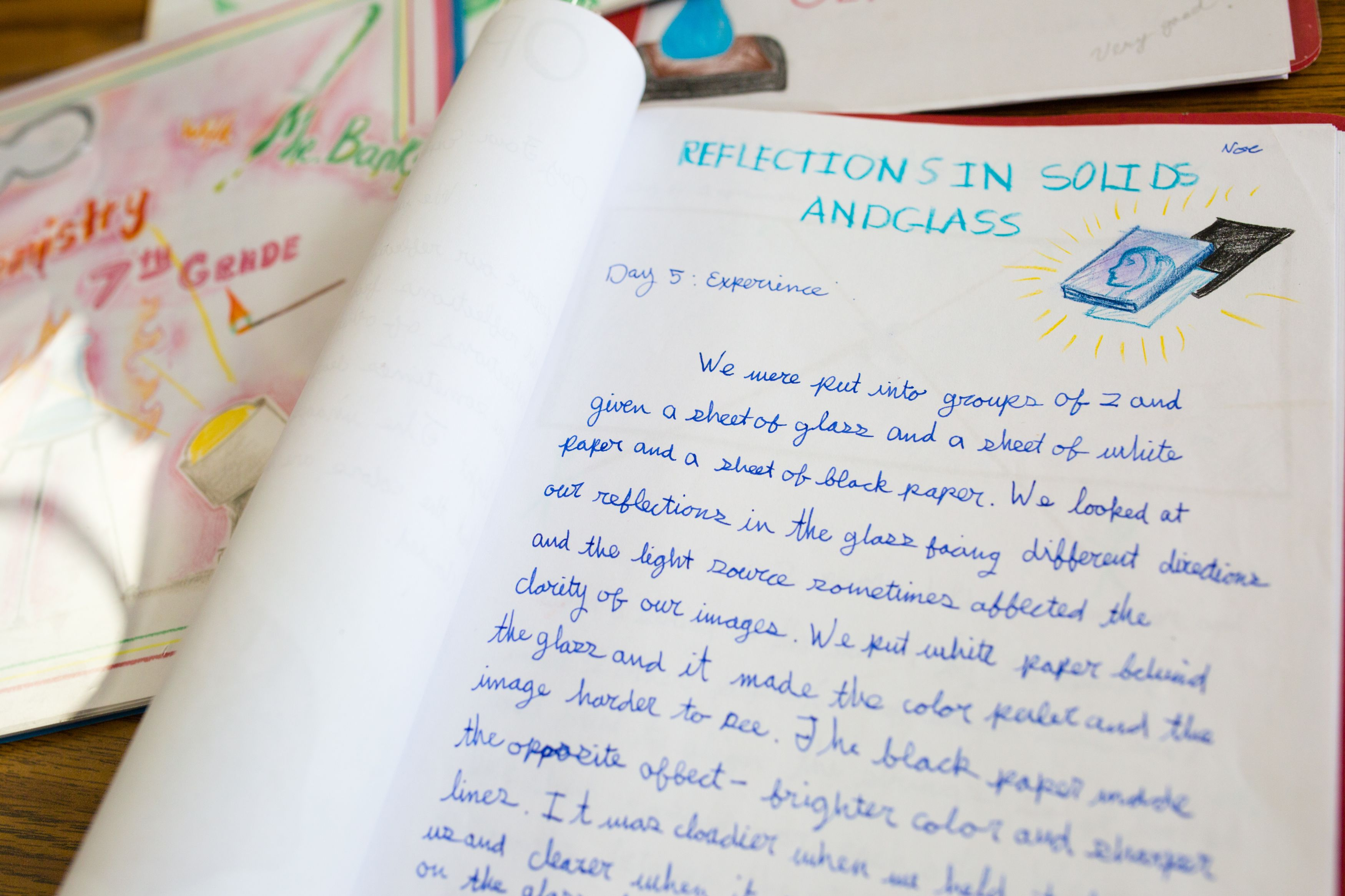Student's handmade text book
