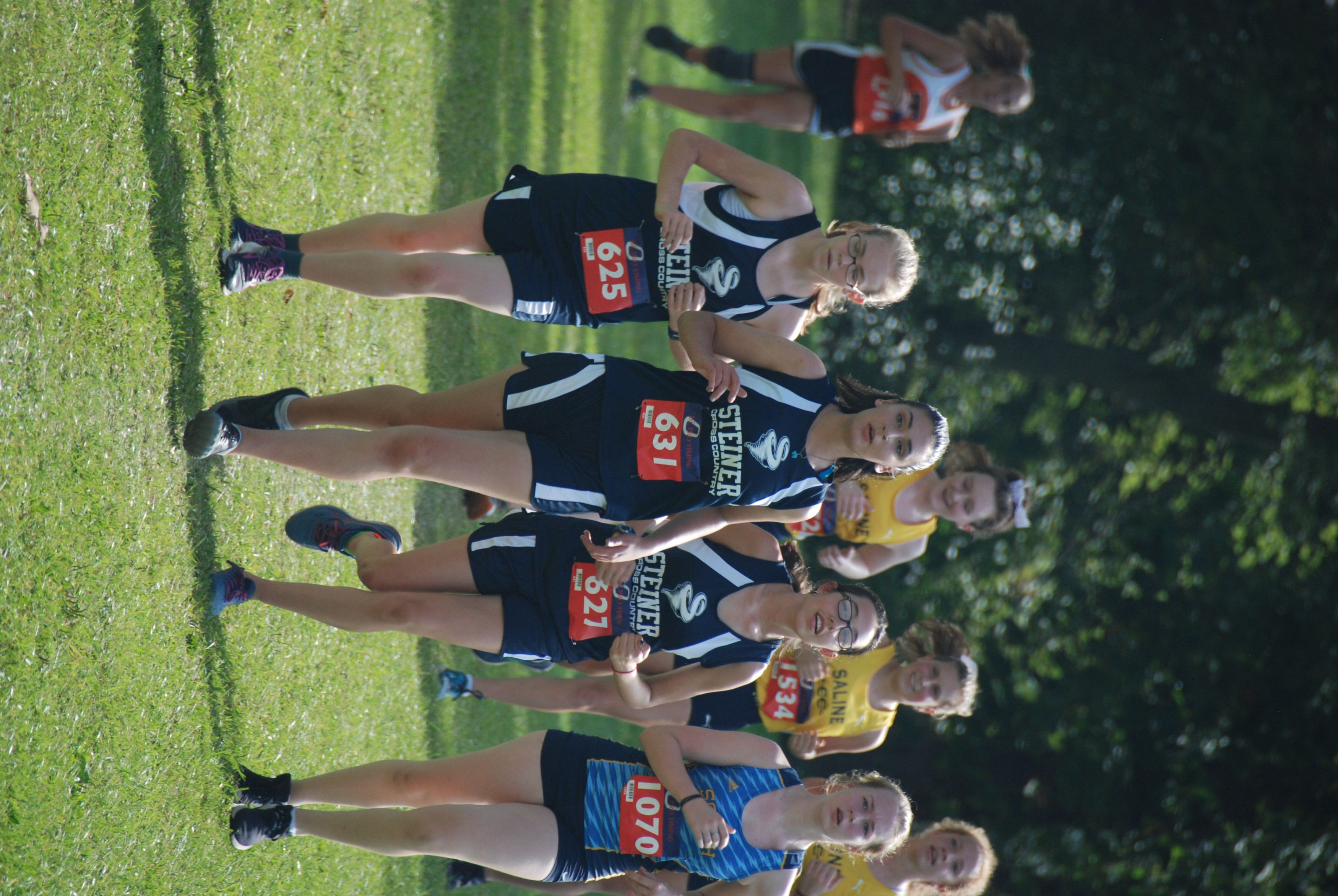 Cross Country Team Running
