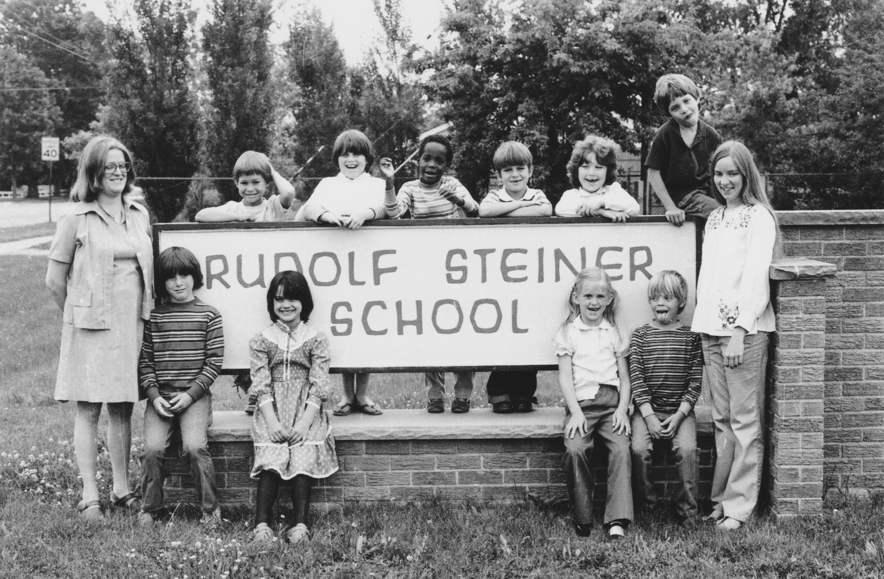 first students at school