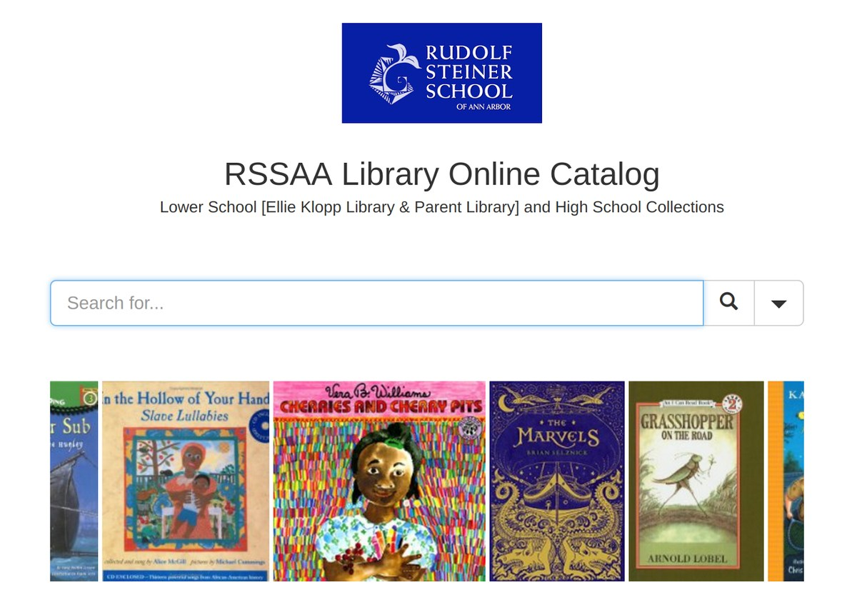 Library Catalog Screen Shot